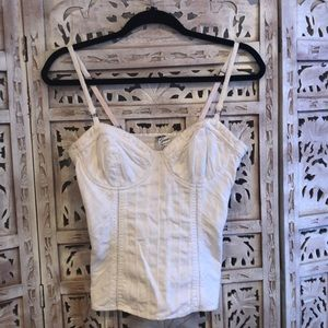 Guess Corset Bustier top in White size M